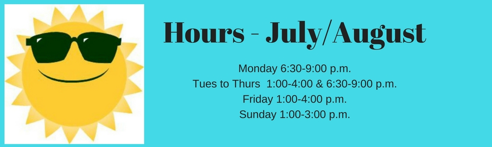 Hours - July & August