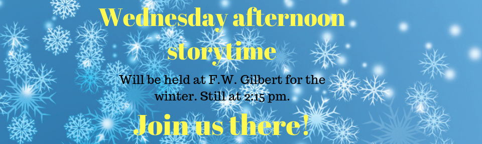 Wednesday story time change