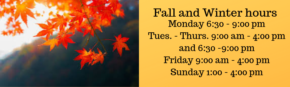 Fall and Winter hours begin September 3 (1)